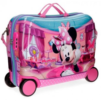 Geanta de gradinita ABS 50 cm 4 roti Disney Minnie Mouse Smile