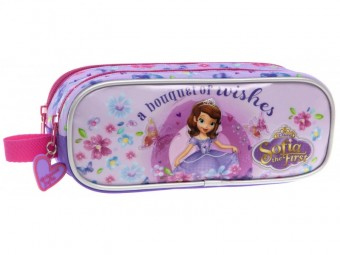 Penar 23 cm 2 compartimente Disney Printesa Sofia Wishes