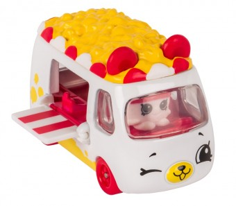 Set de joaca Mini Masinuta Shopkins Cutie Cars Popcorn Moviegoe