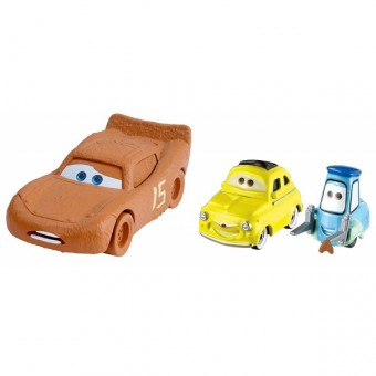 Set masinute Disney Cars 3 Fulger McQueen as Chester Whipplefilter si Luigi si Guido