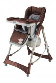 BabyGo - Scaun de masa Tower Maxi Brown