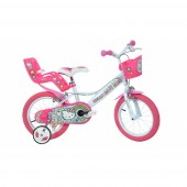 Bicicleta copii DINO BIKES PREMIUM 14'' Hello Kitty