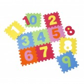 Covor camera copii puzzle din spuma Numbers 10 piese