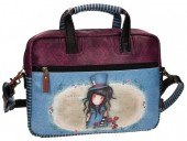 Geanta de umar Gorjuss cu comp. laptop 33 cm The Hatter
