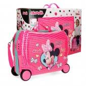 Geanta gradinita ABS 50 cm 4 roti Minnie Happy Helpers