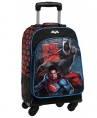 Ghiozdan trolley 4 roti Premium maxi Batman vs Superman-colectia DC Dawn