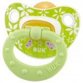 NUK Suzeta din latex Happy Kids, asortate, mar.1 (0-6 luni)