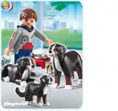 Playmobil - CAINE SAINT BERNARD CU PUI Life in the City