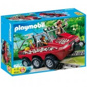 Playmobil - MASINA AMFIBIE A VANATORILOR DE COMORI Treasure Hunters