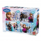 Puzzle 4 in 1 Frozen