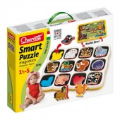 Puzzle copii animale domestice magnetic Quercetti