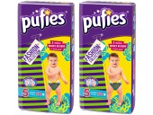 Scutece copii Pufies nr 5 Junior Fashion Collection 11-25 kg 54 buc