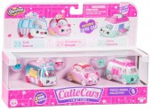 Set de 3 Mini Masinute Shopkins Cutie Cars Freezy Riders