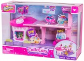 Set de joaca complet Shopkins Cuties Car Drive-in Diner