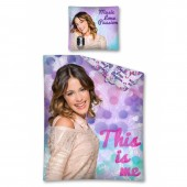 Set Lenjerie de pat Disney Violetta Love music - 160x200cm