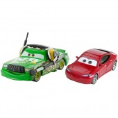 Set masinute Chick Disney Cars 3 Hicks with Headset si Natalie Certain