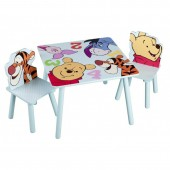 Set masuta si 2 scaunele pentru copii Disney Winnie and Friends