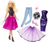 Set Papusa Barbie Fashion Mix'n Match Doll Blonda