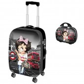 Set Trolley Calatorie LUX & Geanta LUX Betty Boop - London Collection