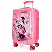 Troler calatorie copii  ABS 55 cm 4 roti Disney Minnie Stickers