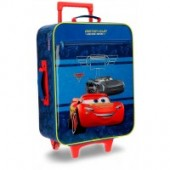 Troler penru calatorie copii textil 50 cm 2 roti Cars Racing Series