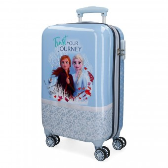 Troler calatorie copii ABS 55 cm albastru Disney Frozen 2 Spirits of Nature