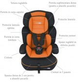 BabyGo - Scaun auto FreeMove Orange