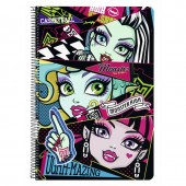 Caiet cu spira A4-80 de file Monster High
