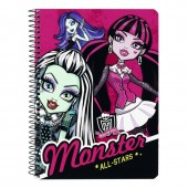 Caiet cu spira A5-80 de file colectia Monster High All Stars