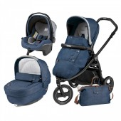 Carucior copii 3 in 1 PEG PEREGO ELITE MODULAR URBAN DENIM