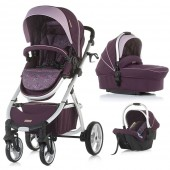Carucior copii Chipolino Up & Down 3 in 1 amethyst