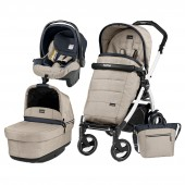 Carucior pentru copii 3 in 1 PEG PEREGO, BOOK PLUS 51 S, BLACK&WHITE, POP-UP ELITE