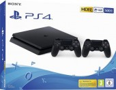 Consola Playstation 4 SLIM 500 GB + Extra Controller Wireless Dualshock 4 V2