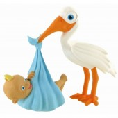Figurina-Moments-Stork with Baby Boy