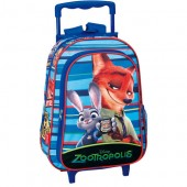 Ghiozdan trolley scoala Disney Zootropolis - Forest collection