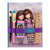 Gorjuss Cityscape - Set rechizite cu carnet - Friends Walk Together