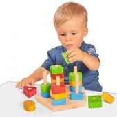 Jucarie din lemn educative Stacking Toy