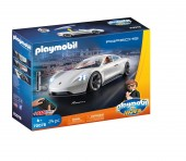 Jucarie Playmobil The Movie Rex Dasher Cu Porsche Mission E