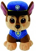 Jucarie Plus 15 cm Beanie Babies Lic Paw Patrol Chase