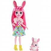 Papusa Enchantimals Bree Bunny cu figurina