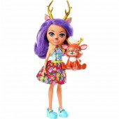 Papusa Enchantimals Danessa Deer cu figurina