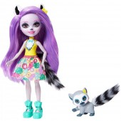 Papusa Enchantimals Larisa Lemur cu figurina Rinolet