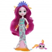 Papusa Enchantimals Maura Mermaid cu figurina Glide