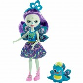 Papusa Enchantimals Patter Peacock cu figurina
