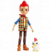 Papusa Enchantimals Redward Rooster cu figurina Cluck