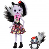Papusa Enchantimals Sage Skunk cu figurina