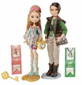 Papusi Ever after high - Ashlynn Ella și Hunter Huntsman cu accesorii