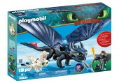 Playmobil – HICCUP, TOOTHLESS SI PUI DE DRAGON