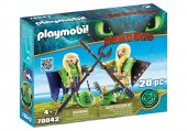 Playmobil Dragons 3 RAFFNUT SI TAFFNUT IN COSTUME DE ZBOR
