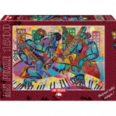 Puzzle 1500 piese - Jazz Modern - LARRY PONCHO BROWN
